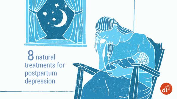 8 natural treatments for postpartum depression