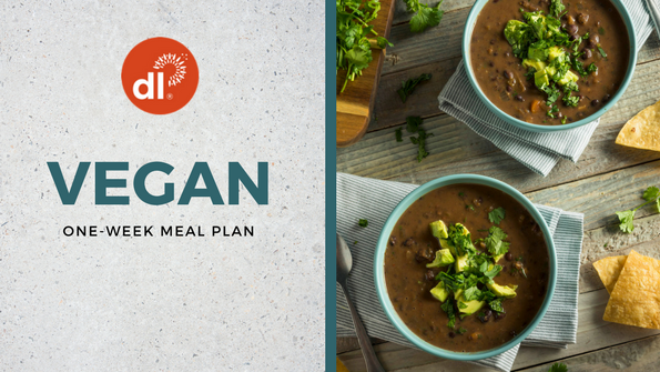 One-week vegan meal plan