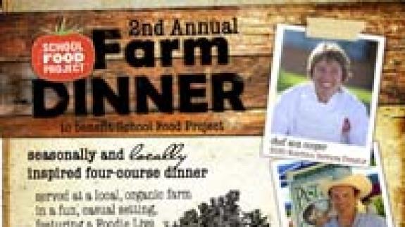 School Food Project farm dinner 2011