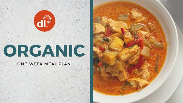 One-week organic meal plan