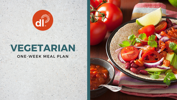One-week vegetarian meal plan