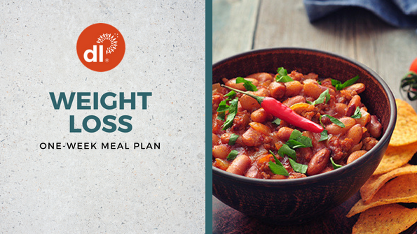 One-week weight loss meal plan