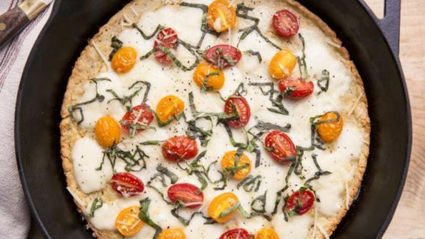 Skillet Caprese Pizza