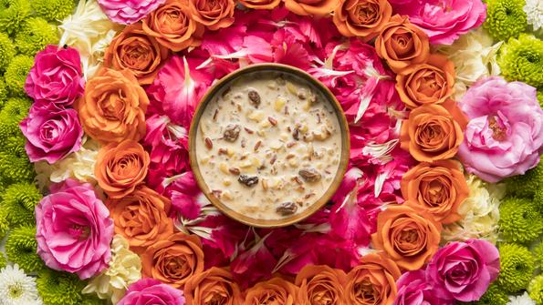 Rose Petal Rice Pudding