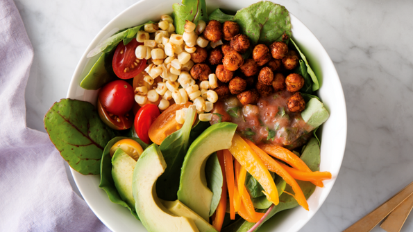 Mexican Roasted Chickpea Salad